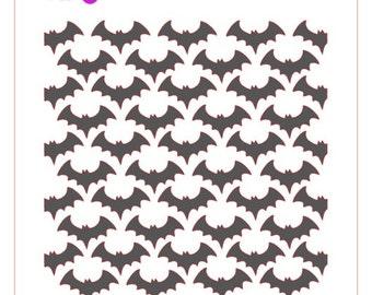 Bats Background Stencil