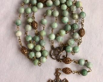 Catholic Rosary: Jade Beads