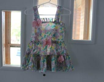 Sundress/ 80s summer party dress 24 months/ girl 2t