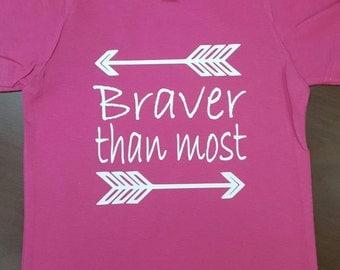 Braver than most Adoption shirt