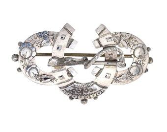 Silver Horse Shoe Brooch