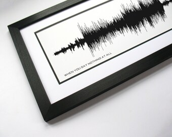When You Say Nothing At All - Song Lyric Art Design, Music Waveform Print