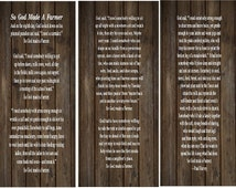 So God Made A Farmer Paul Harvey  Set of 3 Wood Signs or Canvas Wall Hangings - Graduation Gift, Christmas, College, Dorm Room