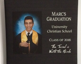 Custom Photo Canvas Graduation Class of 2016
