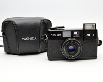 Vintage Black Yashica MF-2 35mm Film Camera Point and Shoot