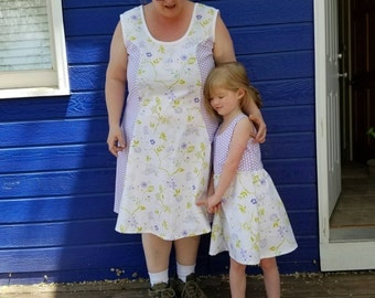 Summer dress Plus size 2x Purple and white