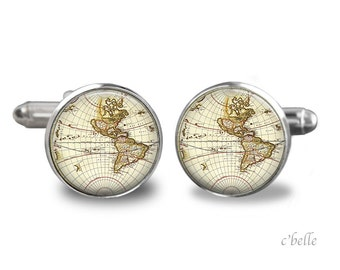 Cufflinks world travelers