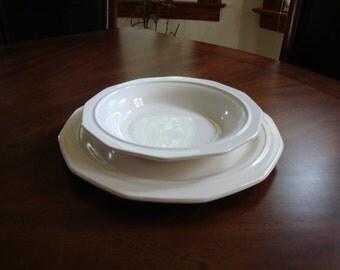 Pfaltzgraff USA HERITAGE WHITE Rimmed Soup / Salad Bowl (6)!