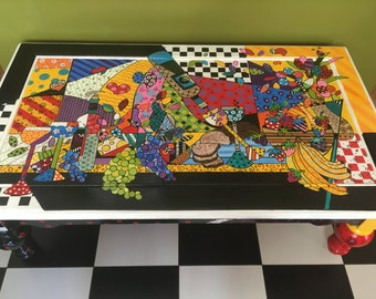 Custom Order Hand Painted Table,