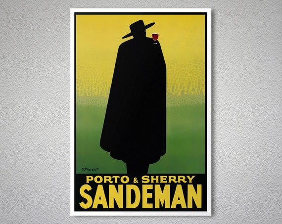 porto sherry sandeman essen trinken poster plakat druck. Black Bedroom Furniture Sets. Home Design Ideas
