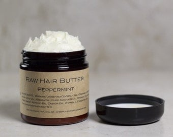 Natural Hair Butter, Moisturizing Raw Shea Hair Butter, All Natural, Natural Hair Care, Natural hair products, Peppermint
