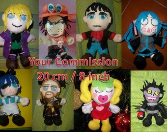 Plush commission 8 inch 20 cm toy doll