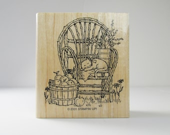 Rubber Wooden Stampin Up Cute Cat