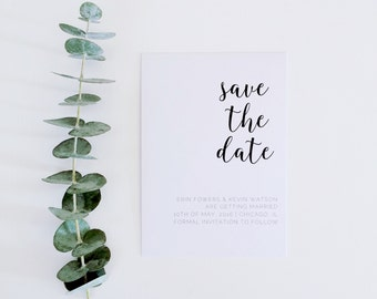 Rose Save the Date Card | Wedding Save the Date Card | Recycled Save the Date Card | A6 Card & Envelope | Rose Collection | PREORDER