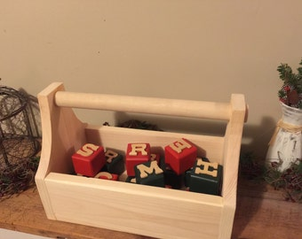 Handcrafted Pine Tool Caddy