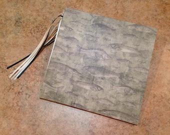 Pre-Made 7x7 Fishing Scrapbook, Handmade Album