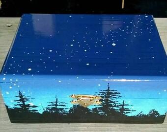Star Bright velvet lined box