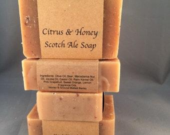 Citrus & Honey Scotch Ale Soap