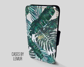BANANA LEAF Iphone 7 Wallet Case Leather Iphone 7 Case Leather Iphone 7 Flip Case Iphone 7 Leather Wallet Case Iphone 7 Leather Sleeve Cover
