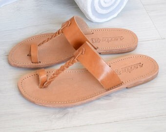 Flip Flop Sandals, Jesus Sandals, Genuine Leather, Sandals, Natural Leather, Women Sandals, Beach Shoes, Bohemian Leather Sandals