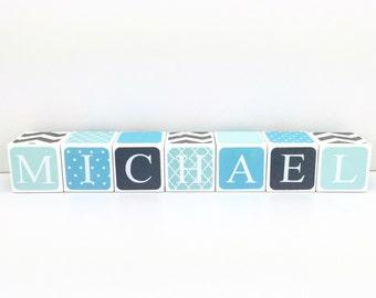 Custom Baby Name Blocks Nursery Baby Shower Gift
