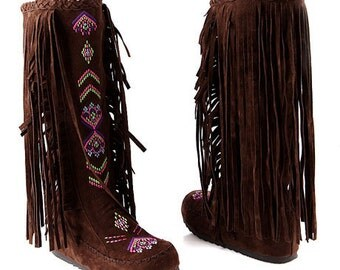 boot brown suede Amazon