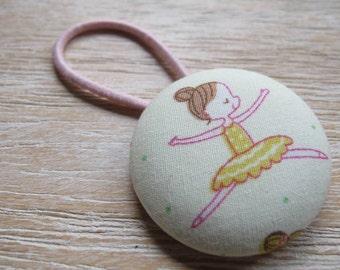 Fabric Covered Button Hair Elastic – Ballet Dancer