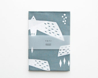 "SALE!! [20%OFF] (3/5- 3/20)  Tenugui (Japanese Cotton Towel Fabric) dyed with 'Chu-sen' - ""Gulls"""