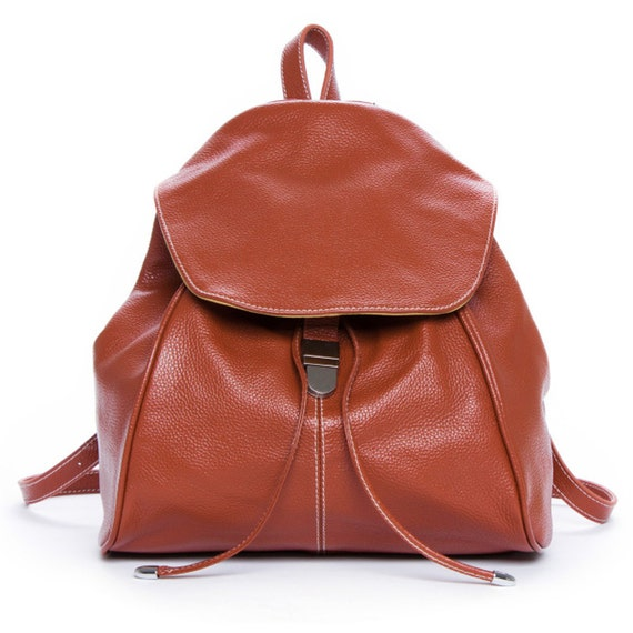 Personalized leather backpack travel bag computer backpack