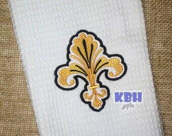 Fleur de Lis Hand Towel