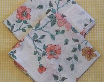 Vintage pillowcases pillow slips pair floral
