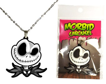 Nightmare Before Christmas Jack Skellington Head Necklace