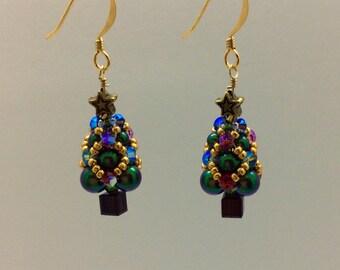 Mini tree earrings