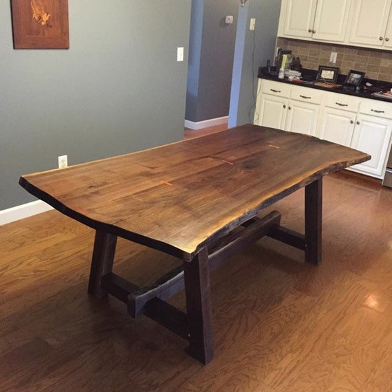 Live Edge Kitchen Table: Live Edge Walnut Dining Table