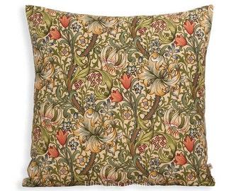 William Morris Fabric Cushion Cover Golden Lily Minor Designer Sofa Throw Pillow