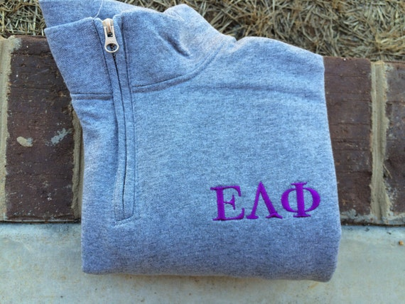 Greek Sale Greek Sorority Quarter Zip By Lulubleuboutique