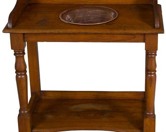 Victorian Period Antique Mahogany Washstand