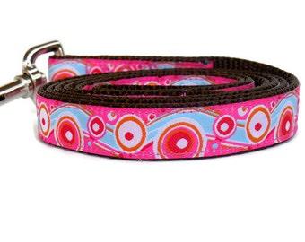 Feminine Pink Swirls Girl Dog Leash