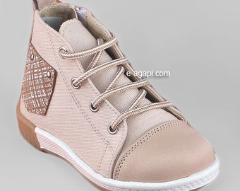 Leather shoes Baby boy first steps shoes blue beige sneakers baby wedding shoes baby boy baptism shoes size 4 5 6 7 8 9 US EU 17358A3011