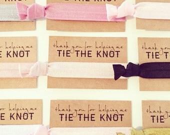 CHOOSE YOUR COLORS Hair Tie Favors | Bridal Shower Hair Tie Favors, Wedding Party Hair Tie Gifts, Hair Tie Bridesmaid Gifts, Wedding Shower