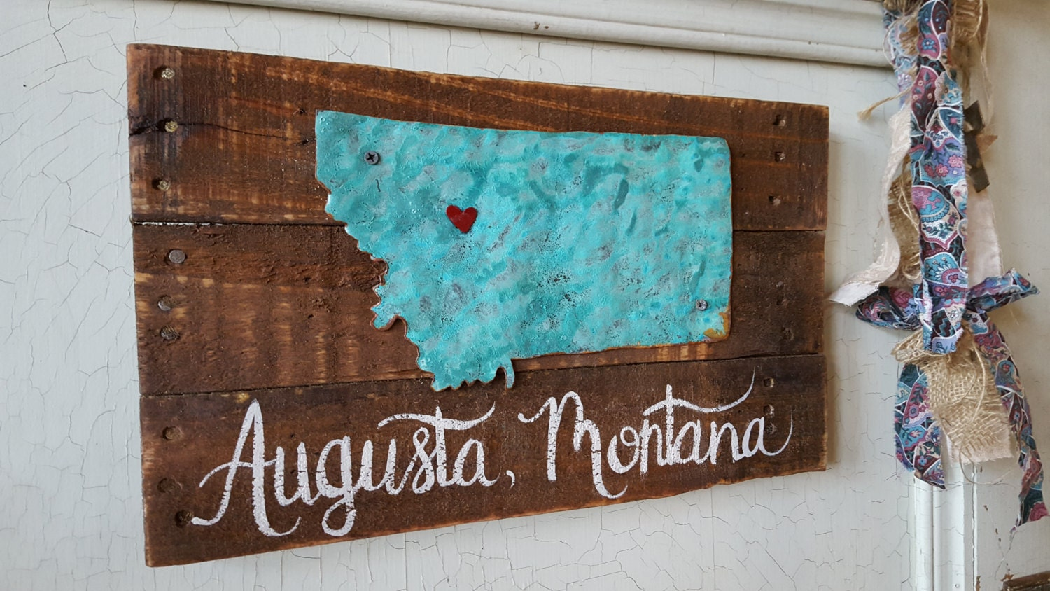 Home State Sign Wood signs Rustic Home Decor Rustic Signs