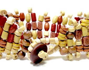 Wooden Bracelet,Handwoven Bracelet,Wooden Jewelry,Wooden Cuff,Cuff Bracelets,African Bracelets,Men's Jewelry,Gifts for her,Gifts for him