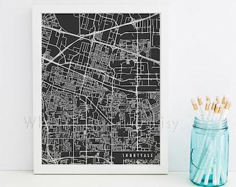 Sunnyvale Map Art Sunnyvale Print Sunnyvale Art Print Sunnyvale Poster Sunnyvale Printable Sunnyvale City Art Sunnyvale California Art