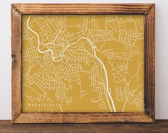 Woonsocket Map Woonsocket Art Woonsocket Map Art Woonsocket Print Woonsocket Printable Woonsocket City Art Rhode Island Art