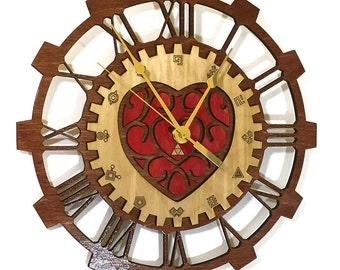 Legend of Zelda Heart Container and Timegate Gear Clock