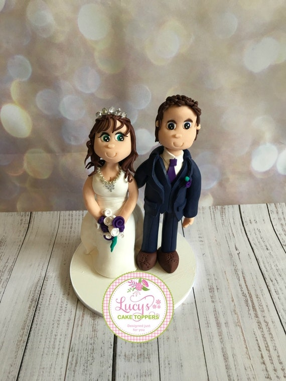 Cheeky Wedding cake Topper - Fully Personalised a lovely keepsake