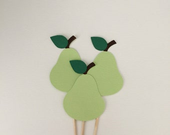 Pear Cupcake Toppers!