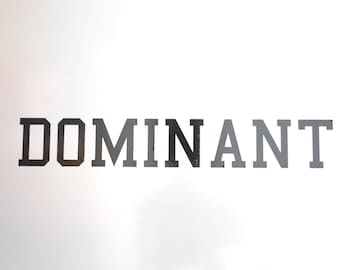 Window Decal, Dominant, ST-027d