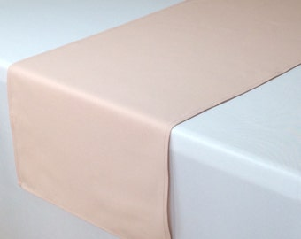 Blush Table Runner 14 x 108 inches, Blush Table Runners for Weddings, Rose Quartz Table Runner, Wedding Table Decor, Event Table Decorations