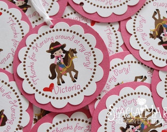 Cowgirl Birthday Favor Tags